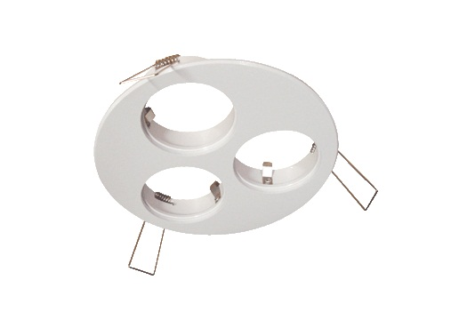 LED inbouwplaat | 3 LEDs | Rond | Lumoluce R120 | Wit