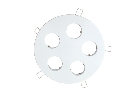 LED inbouwplaat | 5 LEDs | Rond | Lumoluce R150 | Wit