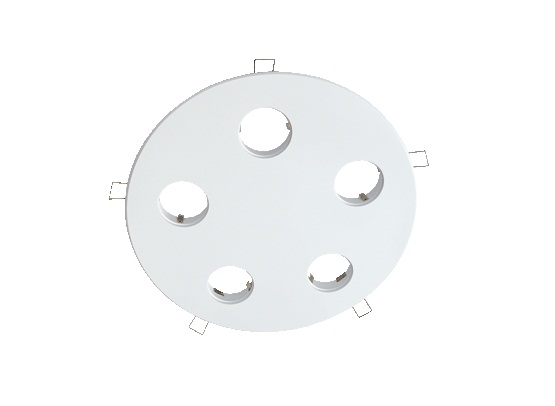 LED inbouwplaat | 5 LEDs | Rond | Lumoluce R260 | Wit