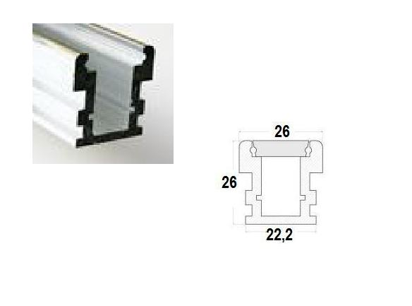 LED Profiel 05 | Firm | 26 x 26  mm | Opaal, PC, UV Bestendig |