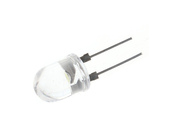 LED 10mm Dip Clear | Wit