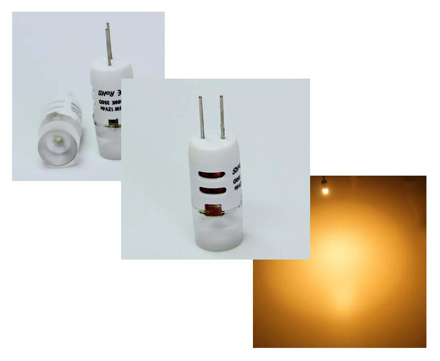 LED steeklampje | 12 Volt | 1,5 W | VV 10-15 W | Warm Wit | G4 |