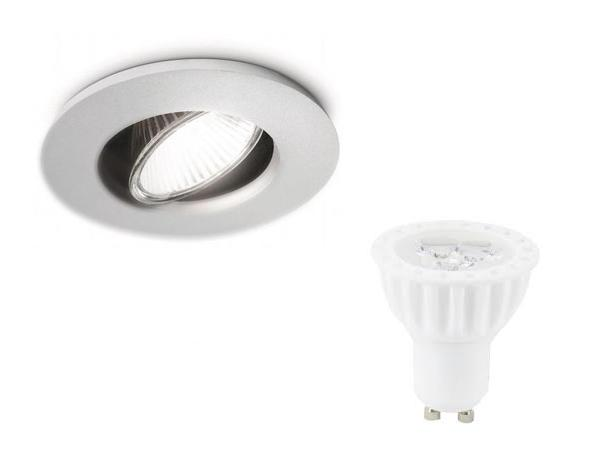 LED inbouwspot | 1 LED spot GU10 | 4 Watt | 280 Lm | Warm Wit |