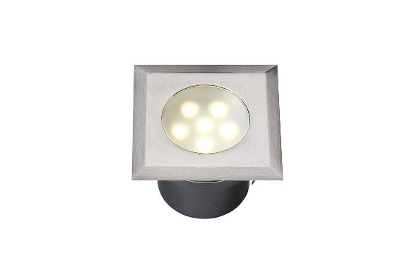 LED Grondspot | 12 Volt | Vierkant | 1 Watt | Warm Wit