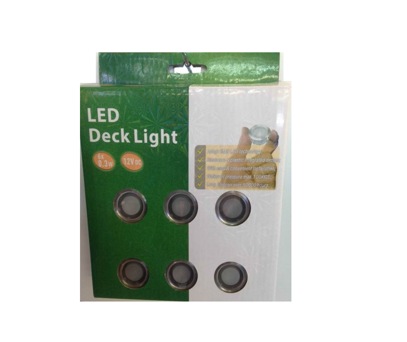 LEDw@re | LED Grondspot | 12 Volt | Rond | 6 x 0,3 Watt | Warm W