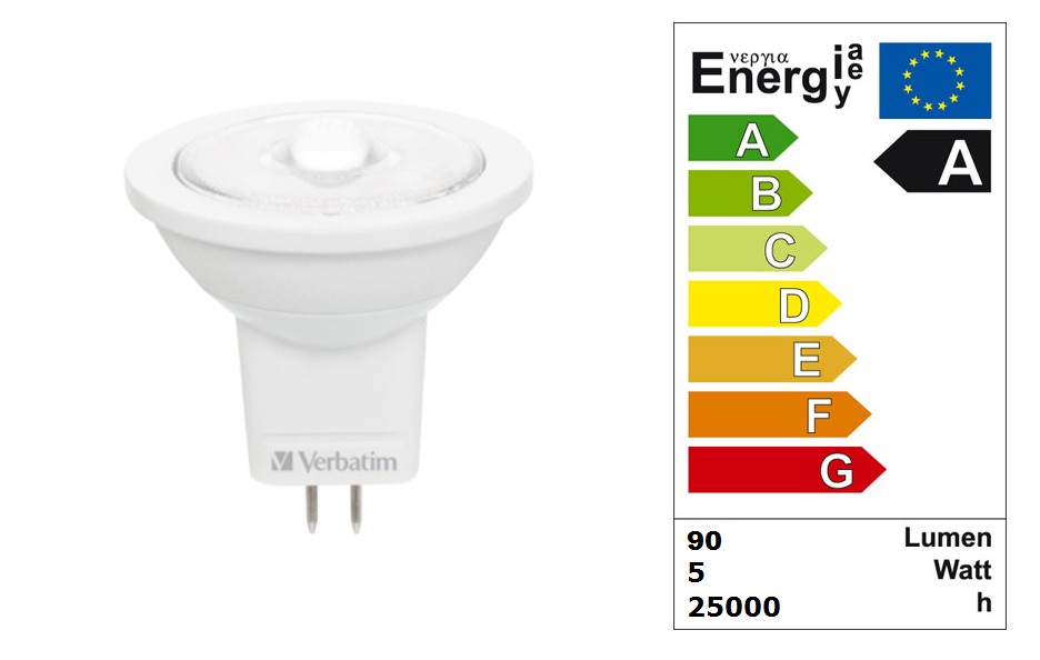 LED steeklampje | 12 Volt | 1 LED | 2,5 W | VV 15 W | Warm Wit |