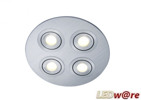 LED inbouwplaat | 4 LEDs | Rond | Lumoluce R140