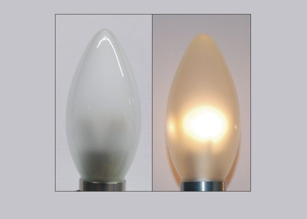 LED Kaars lang | 230 Volt | 3 Watt | VV 15-20 Watt | Warm Wit |