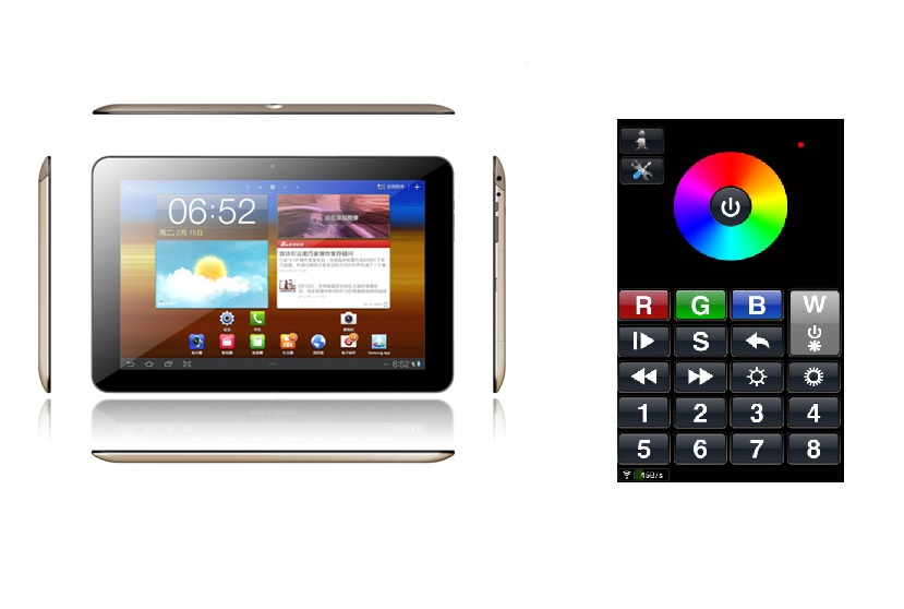 Tablet met RGBW Software 10 Inch - Quad Core
