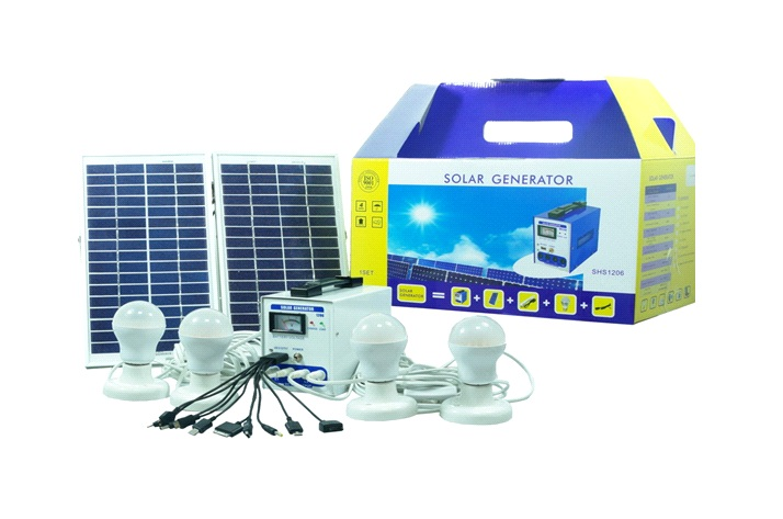 Solarw@re | 4 x 3 Watt LED Lampen + 2 x 10 Watt Zonnepaneel + Ba