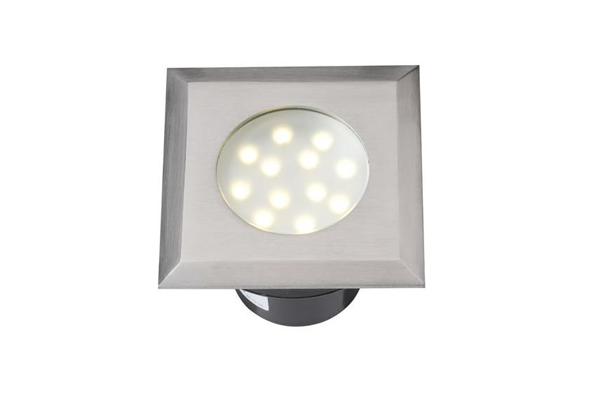 LED Grondspot | 12 Volt | Vierkant | 2 Watt | Warm Wit
