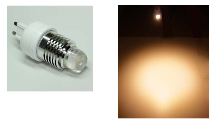 LED steeklampje | 220 Volt | 1 Power LED | 3 W | VV 25 W | Warm